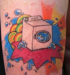 Washing machine tattoo
