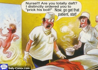 Prick his boil