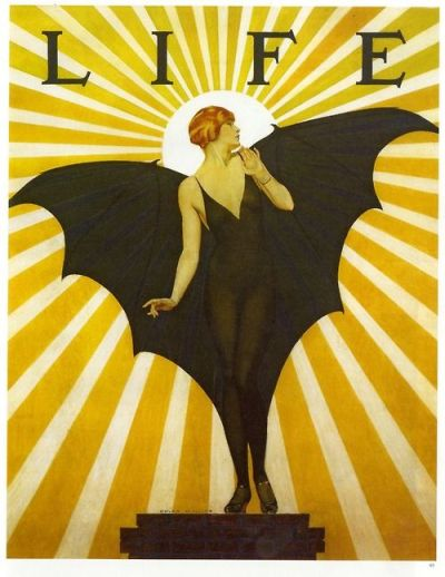 life magazine cover bat girl yellow