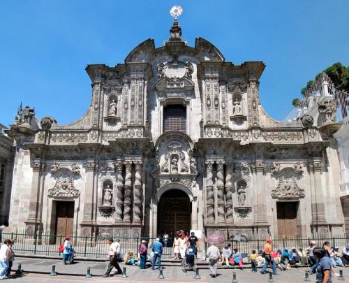 La iglesia de la Compañía de Jesús en Quito