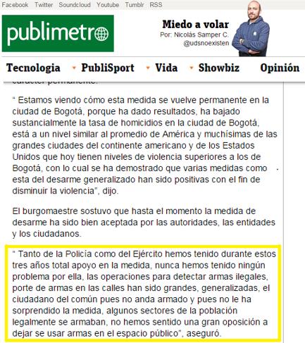 Publimetro Colombia gazapo